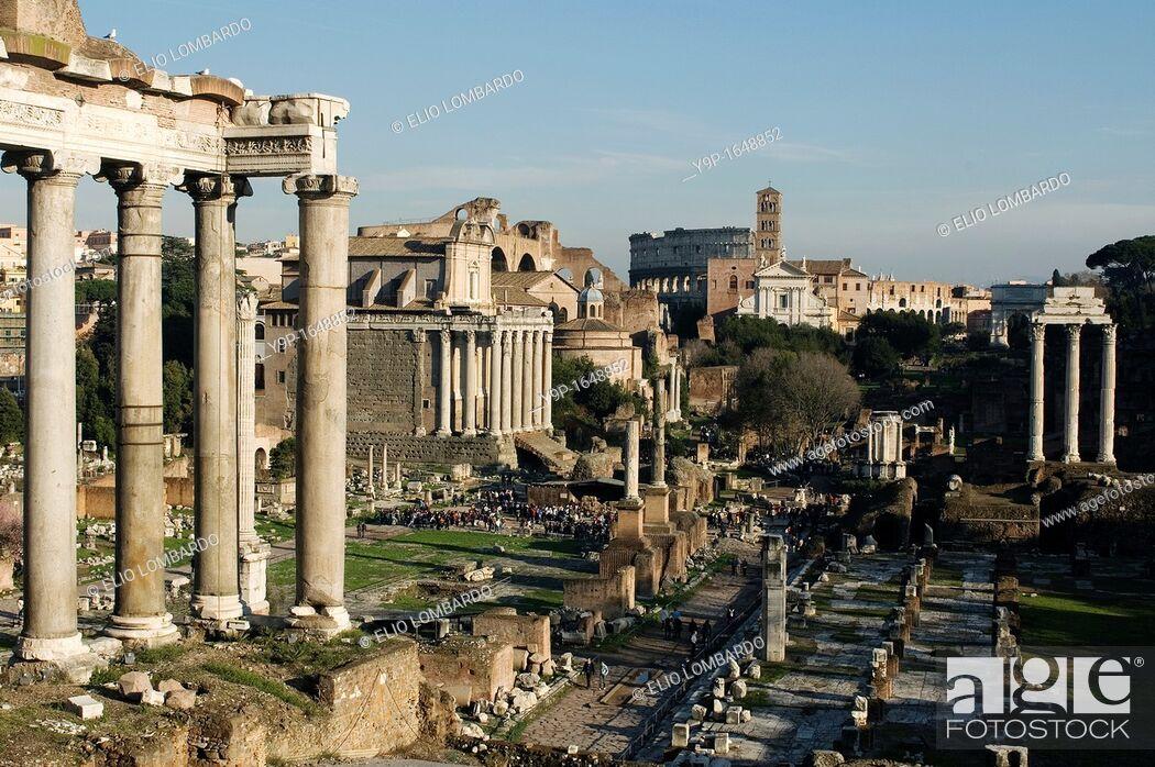 Stock Photo: Roman Forum, Rome, Latium, Italy.