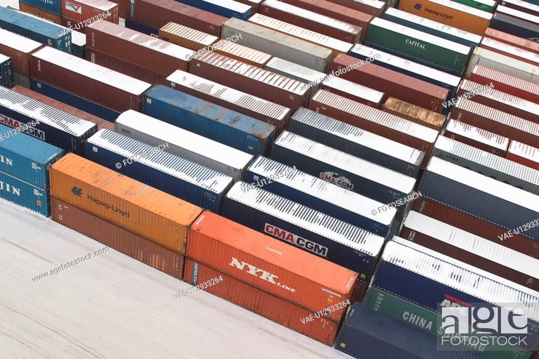Stock Photo: port, harbor, shipping, industry, storage, transportation.
