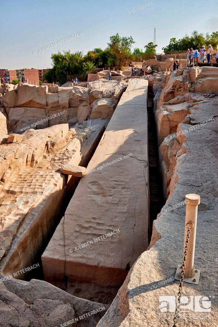 Imagen: EGYPT, ASWAN, 10.11.2016, Unfinished obelisk, Aswan , Egypt, Africa - Aswan, Egypt, 10/11/2016.