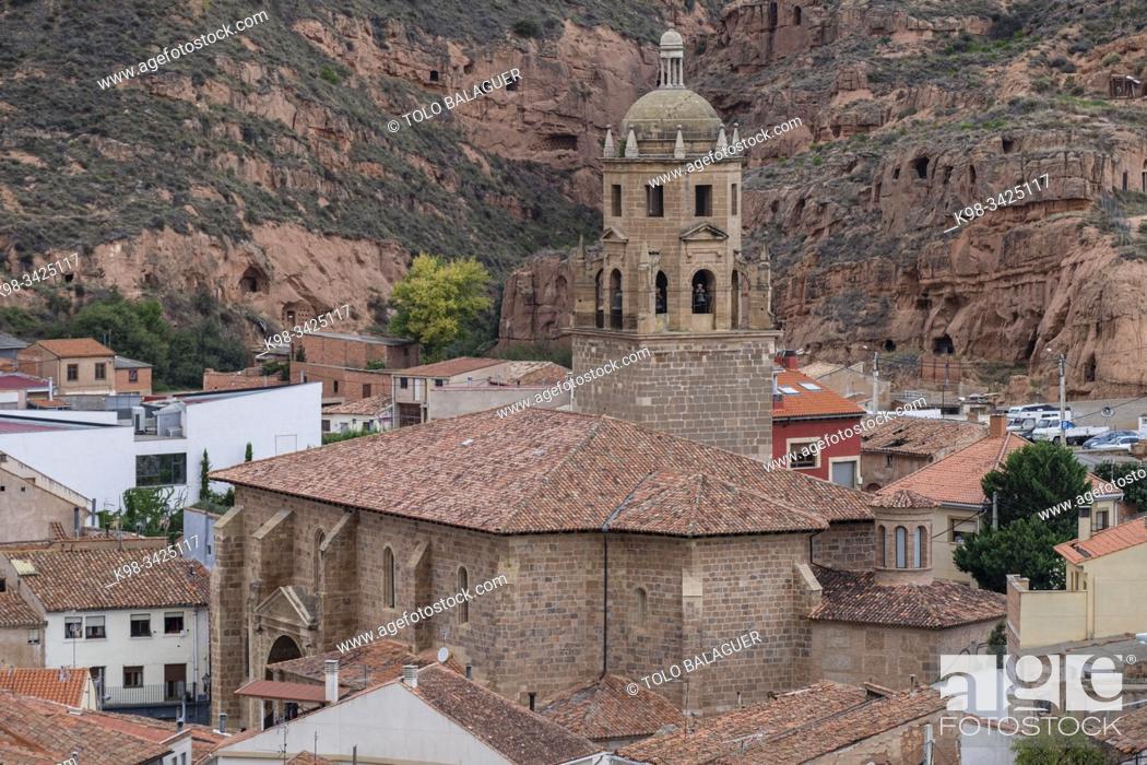 Stock Photo: iglesia de San Cosme y San Damián , S. XVI, Arnedo, La Rioja , Spain, Europe.