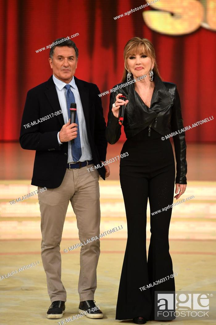 Imagen: The former football player Claudio Gentile with Milly Carlucci during the tv show Ballando con le stelle, Rome, 25-03-2017.