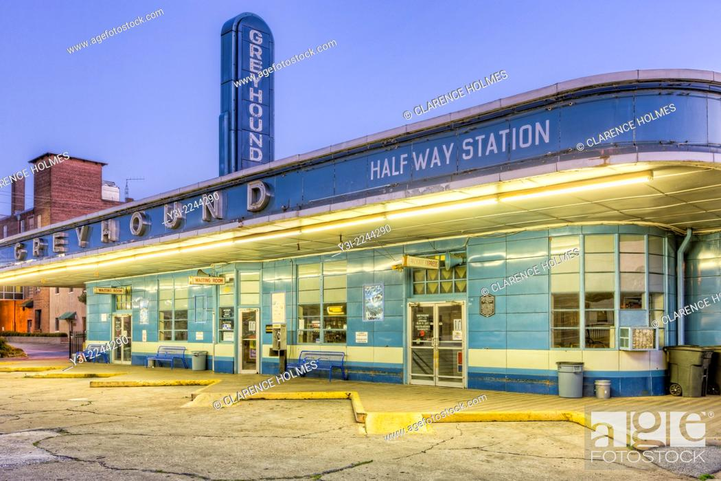 The historic Greyhound Bus Station in Jackson, Tennessee