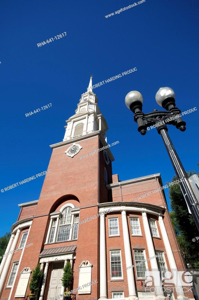 Stock Photo: Park Street Church, Boston, Massachusetts, New England, United States of America, North America.
