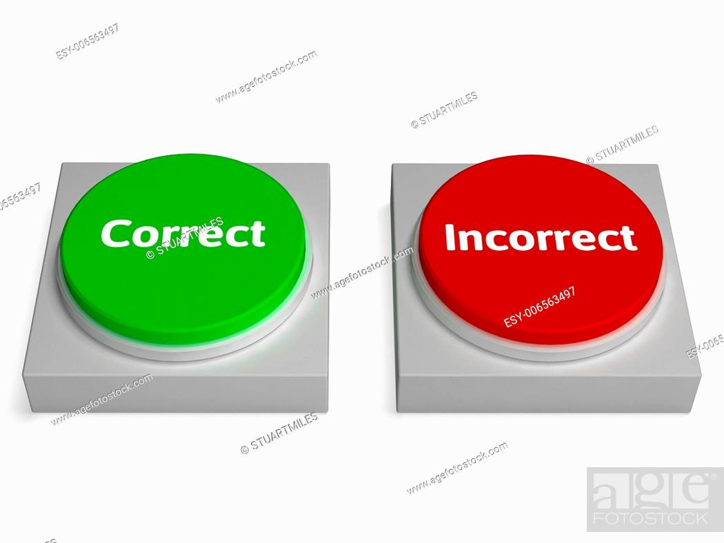 Imagen: Correct Incorrect Buttons Showing True Or False.