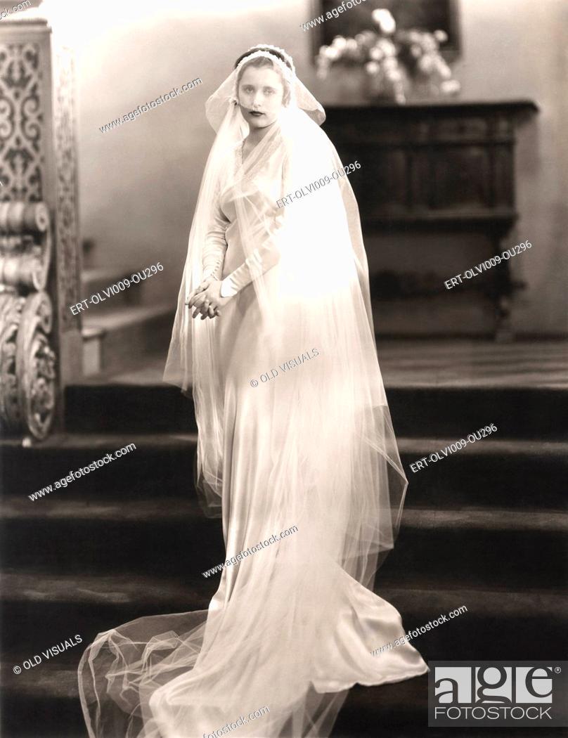 Imagen: On her wedding day.