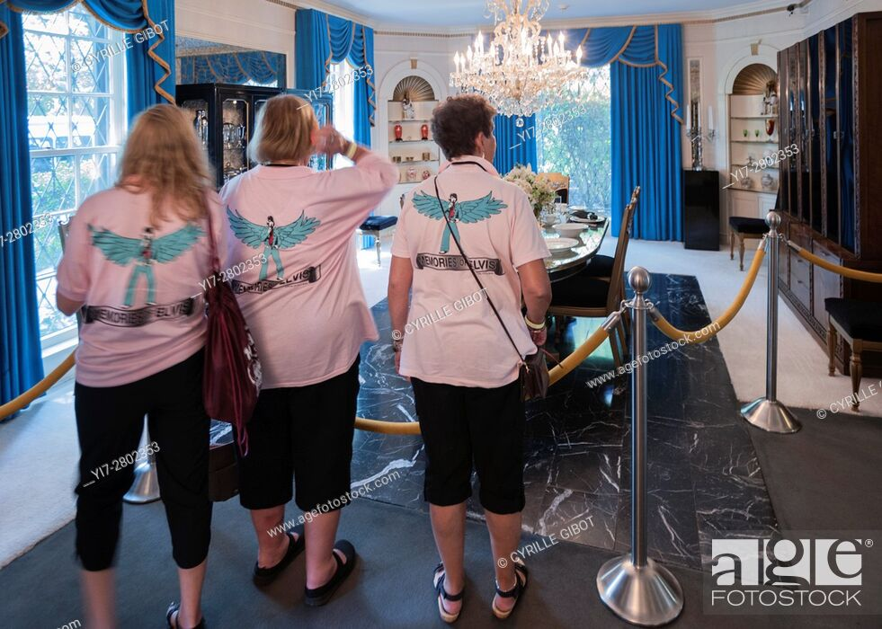 Stock Photo: Tourists visiting Graceland, Memphis, Tennessee, USA.