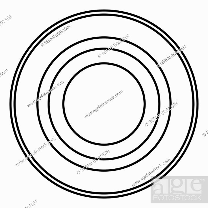 Vector: Radio signal symbol connect icon black color vector illustration flat style outline.