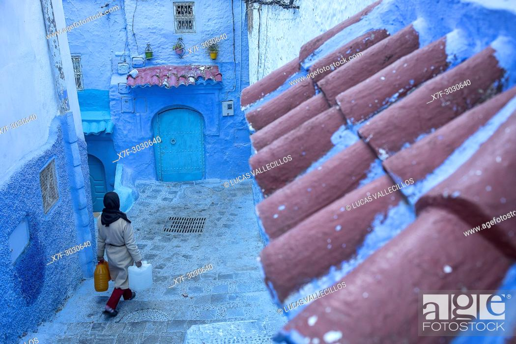 Stock Photo: Chefchaouen, medina. Morocco.