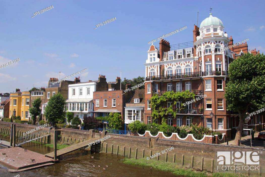 Stock Photo: Riverside Hammersmith London.