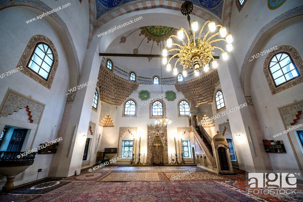 Stock Photo: qibla wall and Mihrab Gazi Husrev-beg Mosque in old town of Sarajevo, the largest historical mosque in Bosnia and Herzegovina.