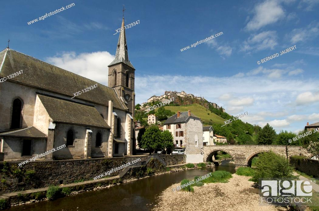 Stock Photo: Saint Flour, Cantal, Auvergne, France, Europe.