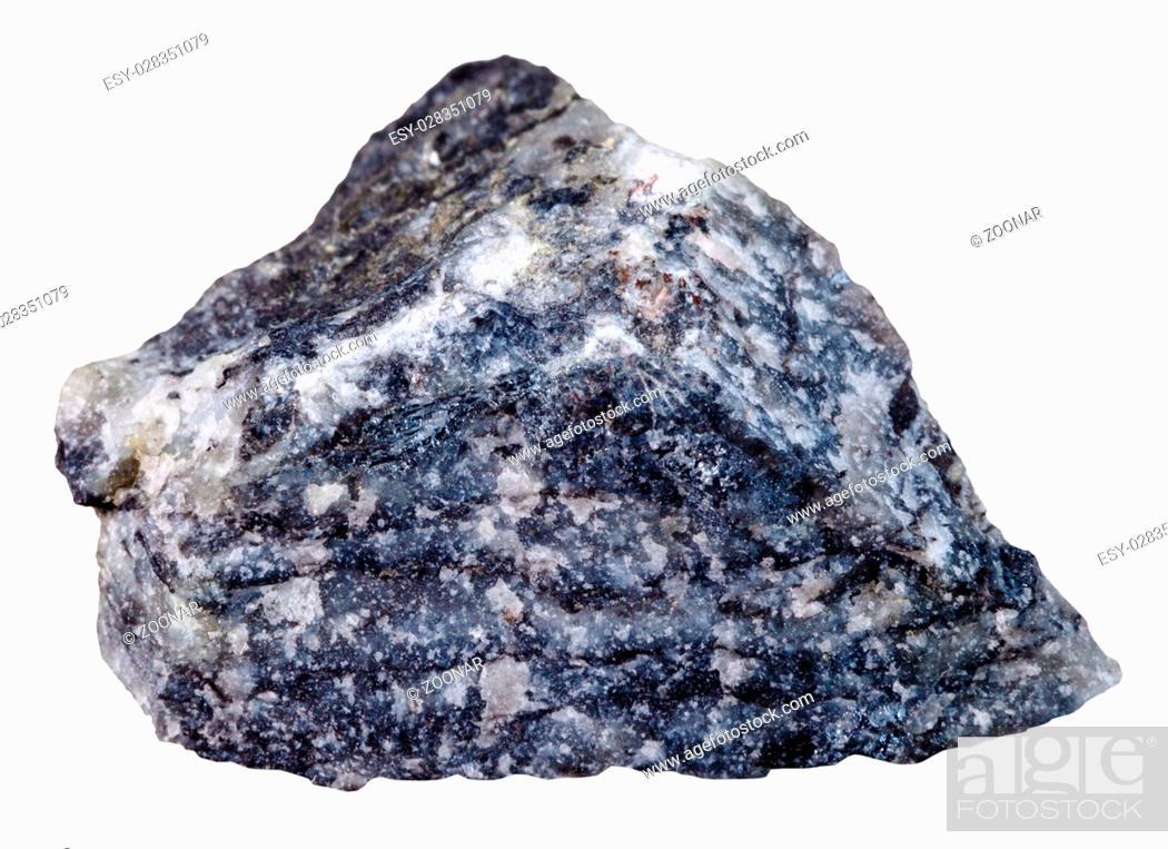 Stock Photo: stibnite (antimonite) mineral stone isolated.