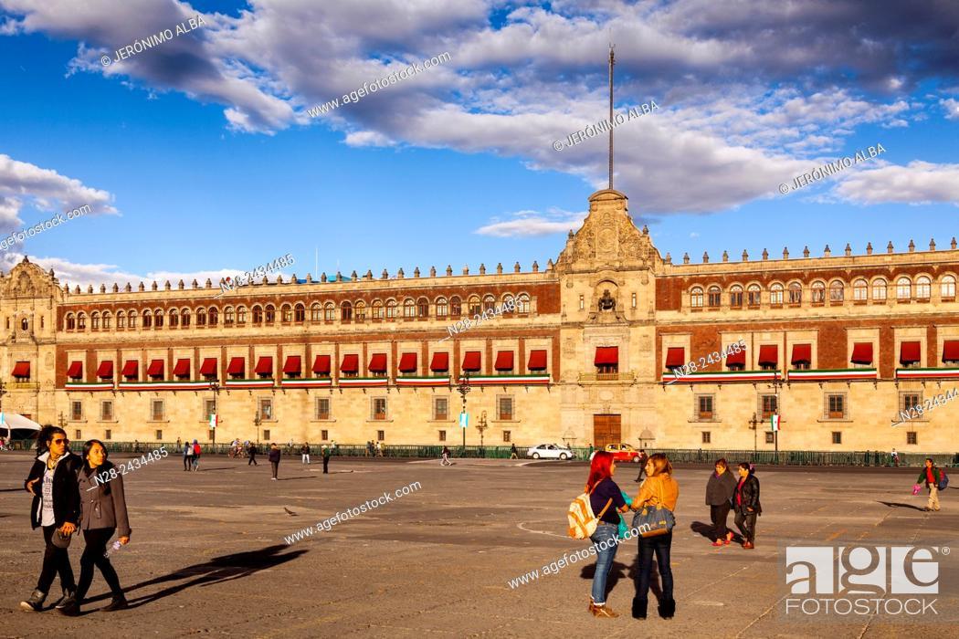 Plaza De La Constitucion Zocalo Square Mexico City Federal District