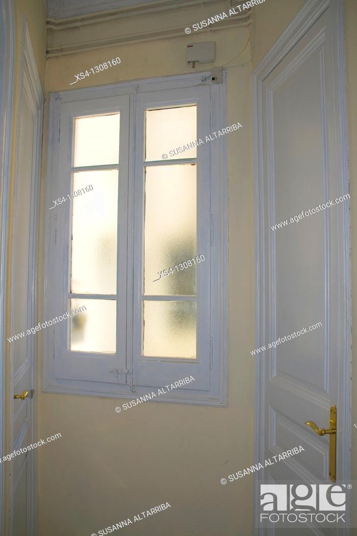 Stock Photo: White doors.