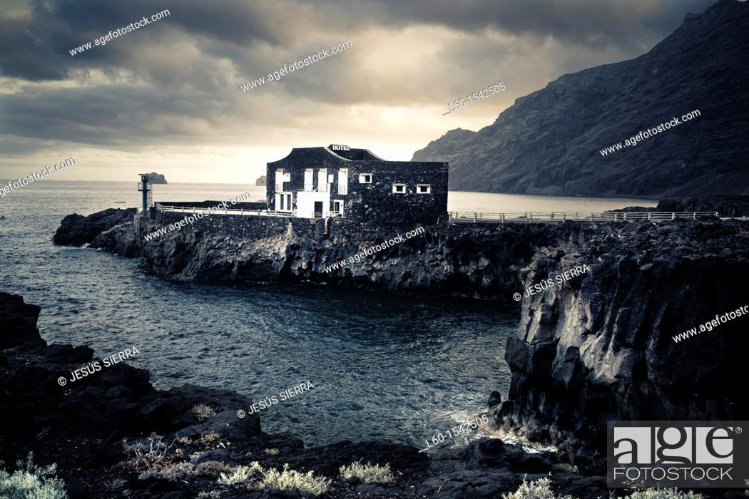 Stock Photo: Smallest Hotel of the world, Las Puntas, El Golfo, El Hierro, Canary Island, Spain, Europe.