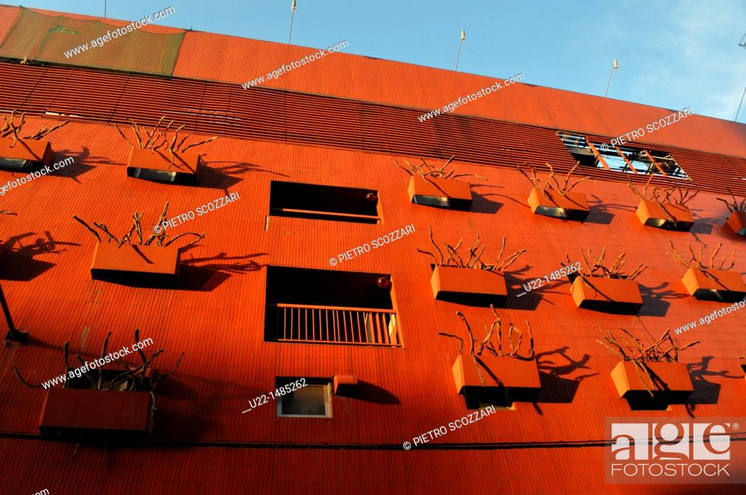 Stock Photo: Osaka (Japan): modern building in Minami.