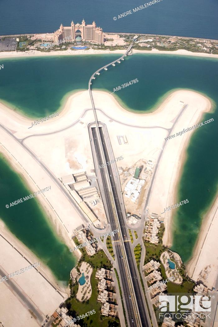 Stock Photo: Helicopter view of Atlantis hotel on the Palm Jumeirah in Dubai. It's hard to sell. Photo: André Maslennikov.