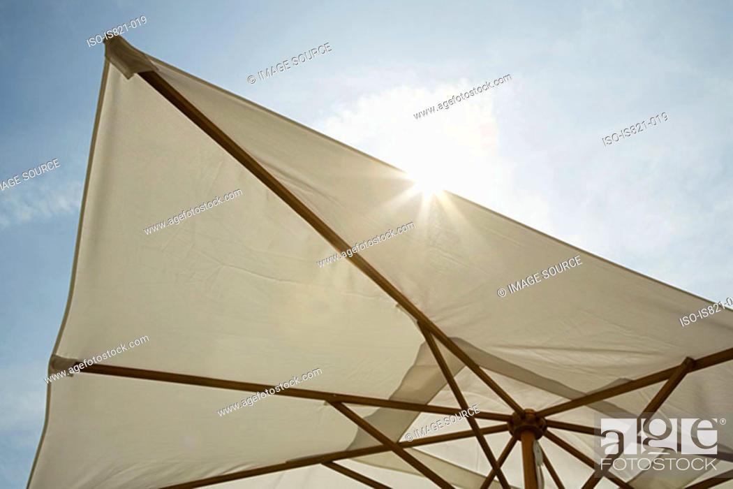 Stock Photo: Parasol on sunny day.