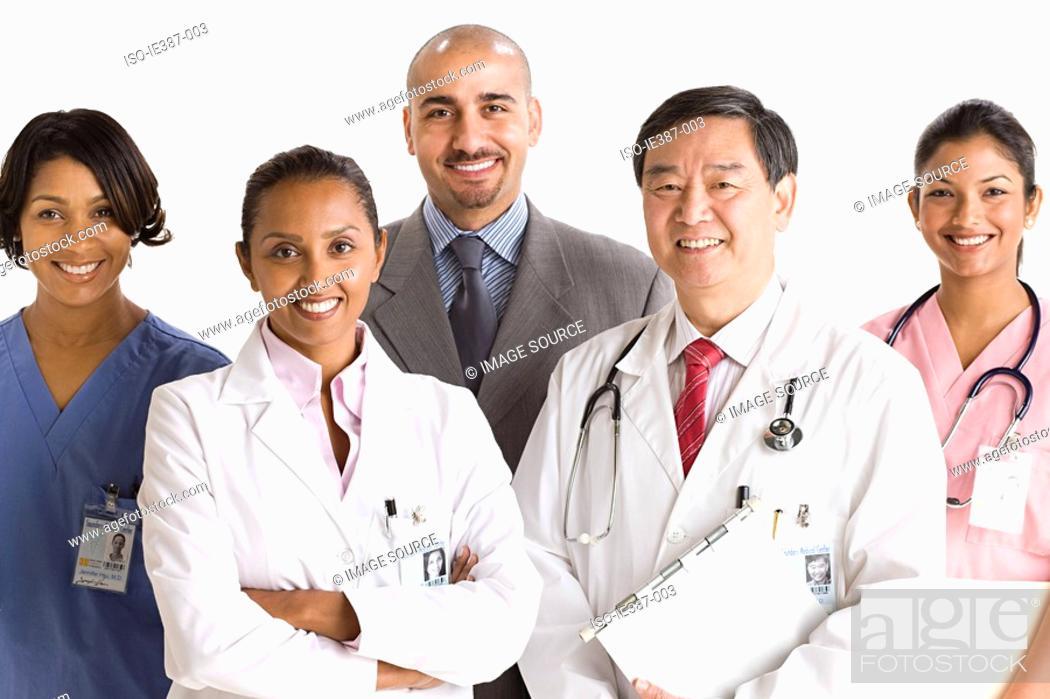 Stock Photo: Portrait of doctors and nurses.