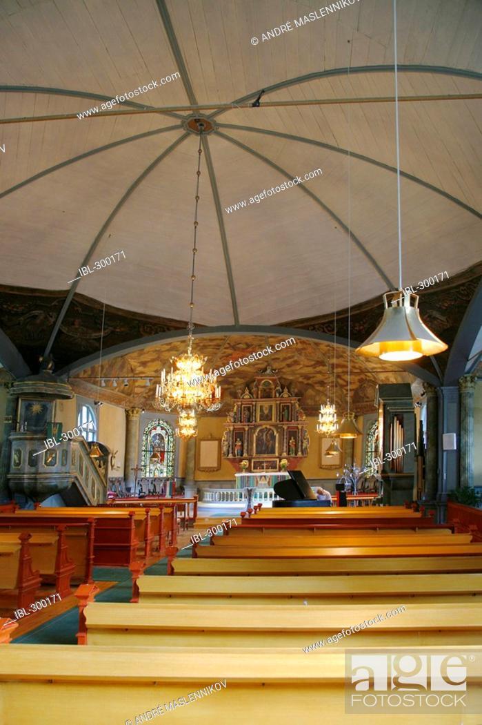 Stock Photo: Interior of Karlskoga Church.
