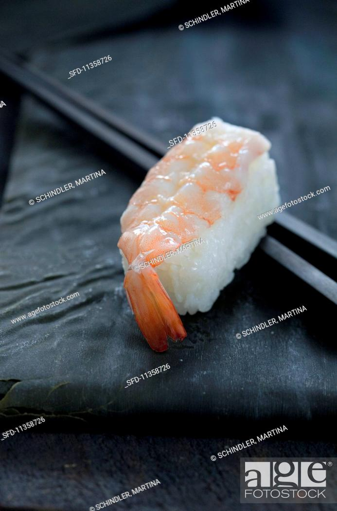 Ebi Sushi With A Prawn Stock Photo Picture And Rights Managed