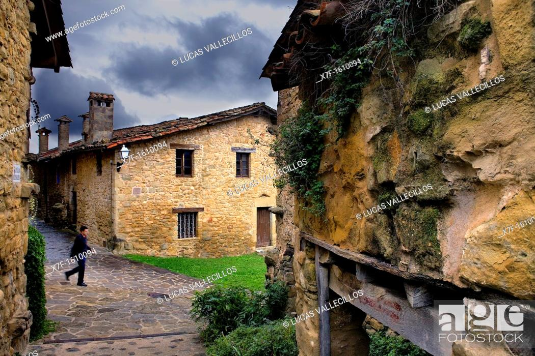 Stock Photo: Casa del Veguer,Mallol,Girona province, Catalonia, Spain.