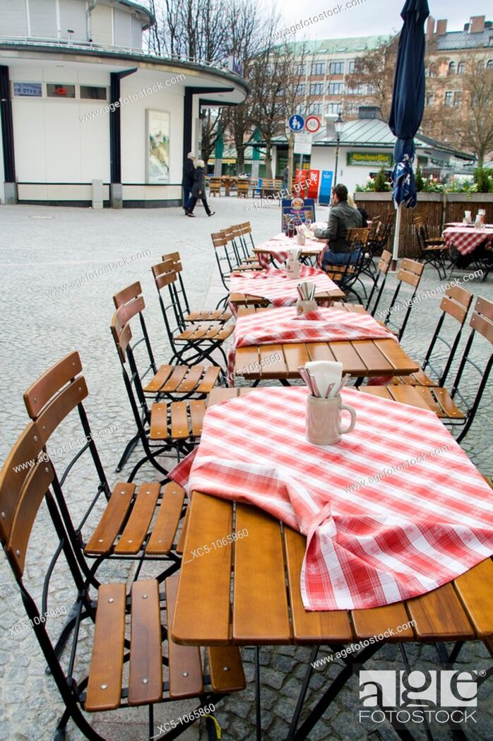 Stock Photo: Typical restaurant, Munich, Bavaria, Germany.
