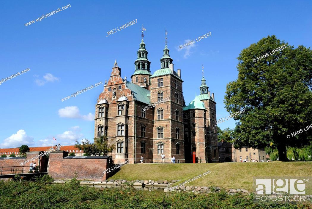 Stock Photo: Denmark, Copenhagen, View of Rosenborg castle.