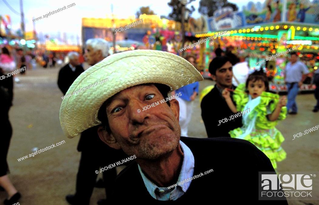 Stock Photo: Funny man at the feria de Jerez.