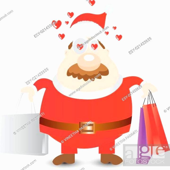 Stock Vector: Christmas Shopping.