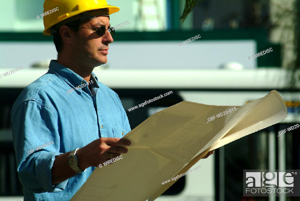 Stock Photo: Men, engineer, Architecture, Brazil.