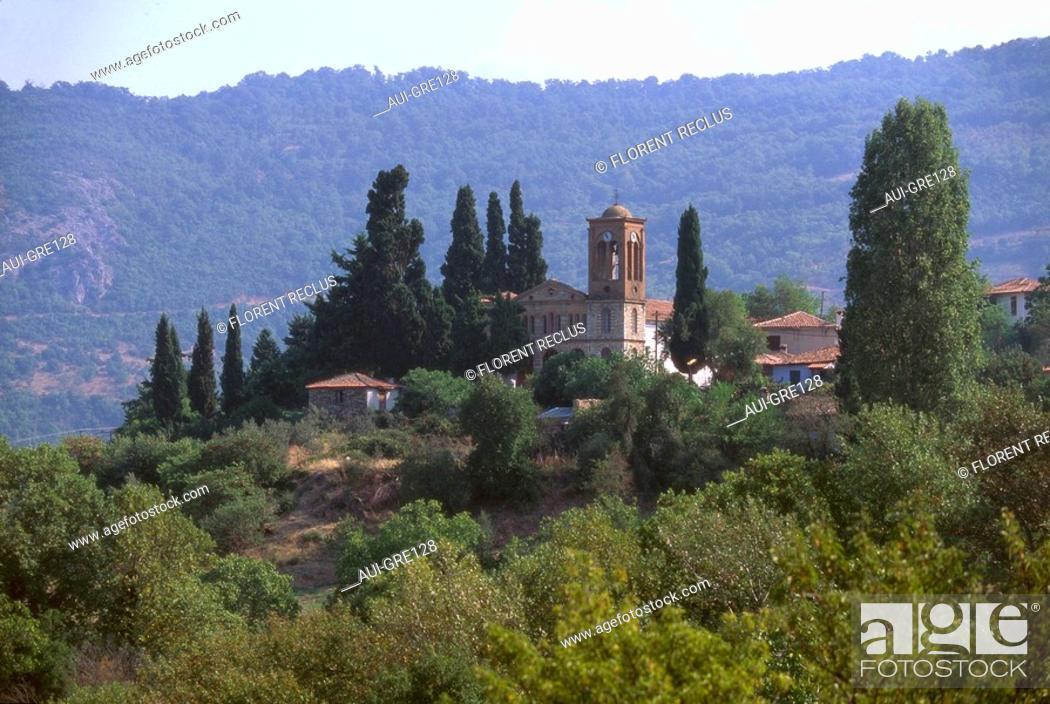 Stock Photo: Greece - Macedonia - Tembe Valley - Ambelakia.