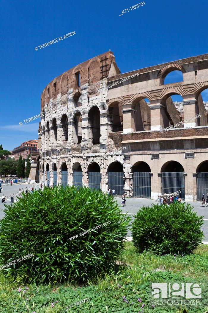Imagen: The Roman Coliseum in Rome, Italy.