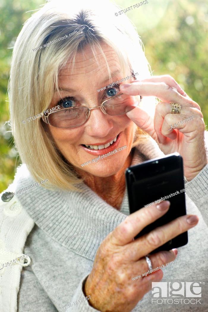 Stock Photo: Senior woman.