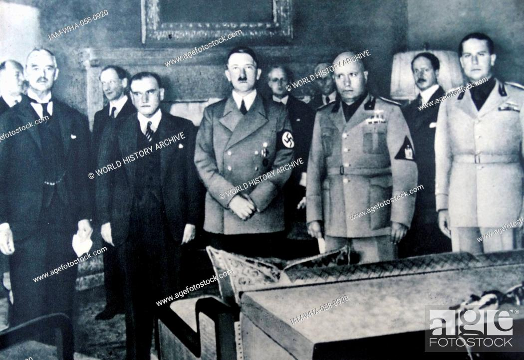 29th September 1938 Munich Conference From Left To Right