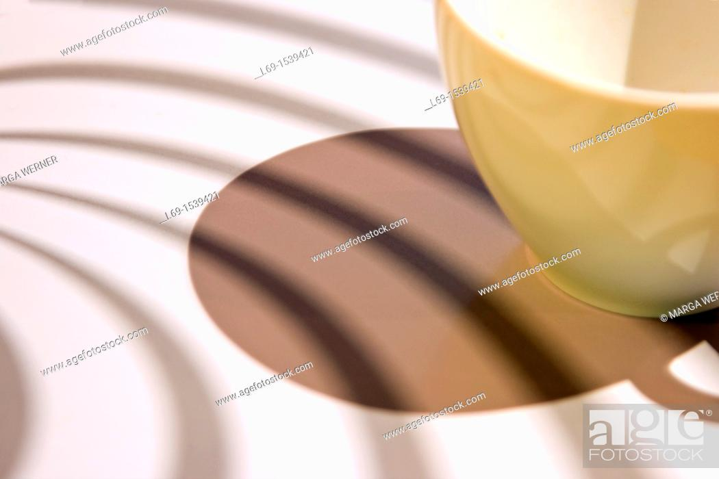 Stock Photo: Coffee cup and shadow.