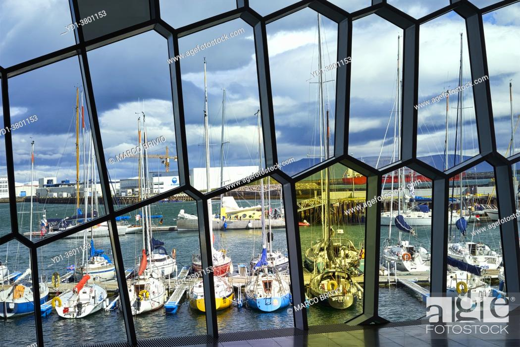 Stock Photo: The harbour of Reykjavik. Iceland.