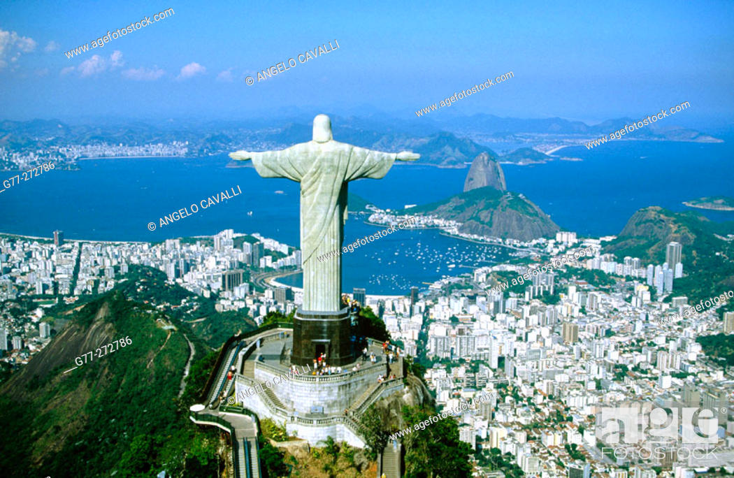 Stock Photo: Statue of Christ the Redeemer in Mt. Corcovado. Rio de Janeiro. Brazil.