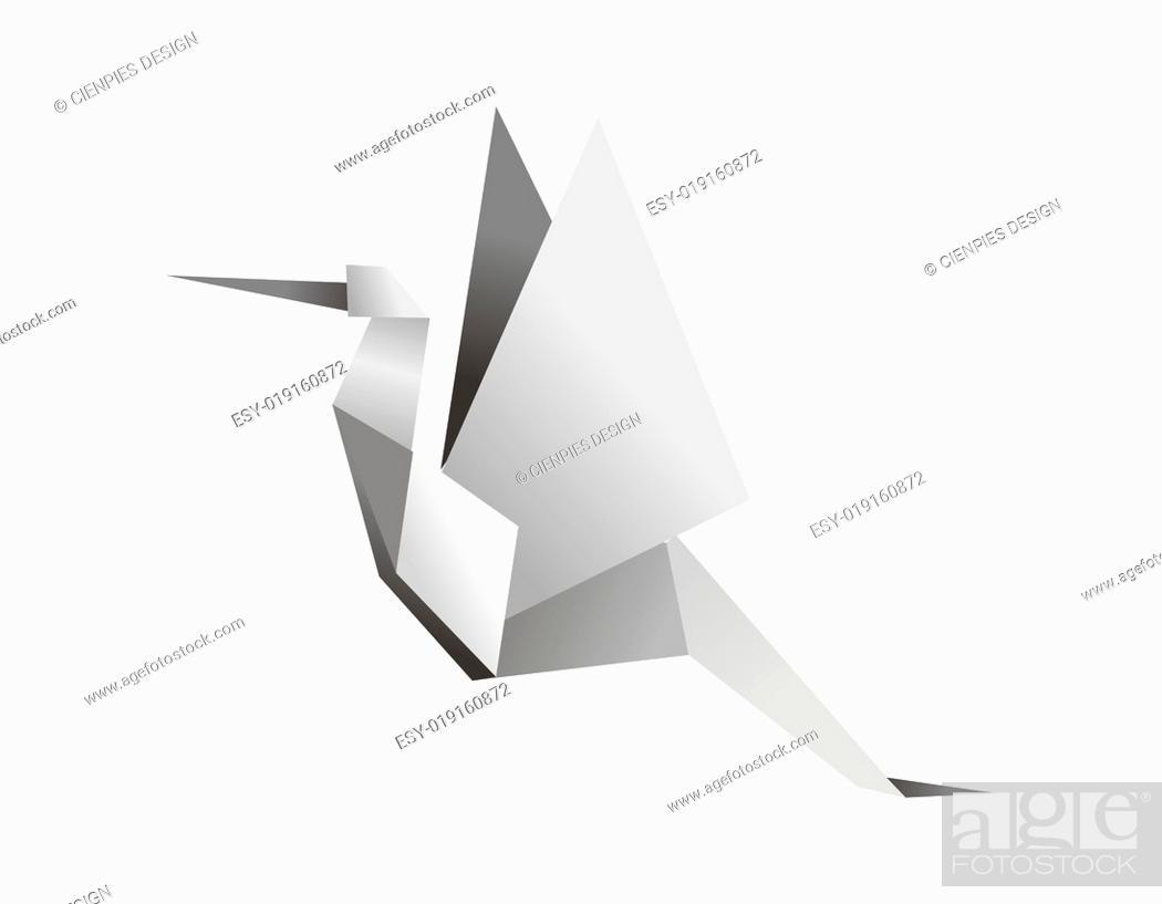 Stock Photo: Origami stork.