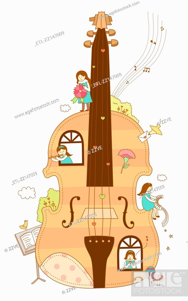 Stock Photo: Close-up of violin.