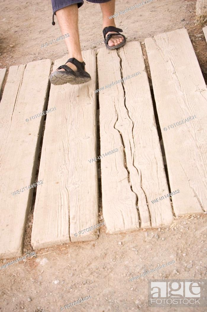Stock Photo: Outdoors, Day, Wood, Plank, Structure.