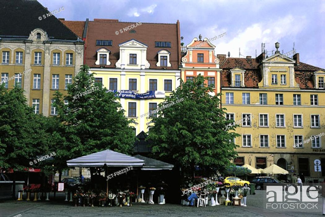 Stock Photo: Poland, Wroclaw, Solny place.
