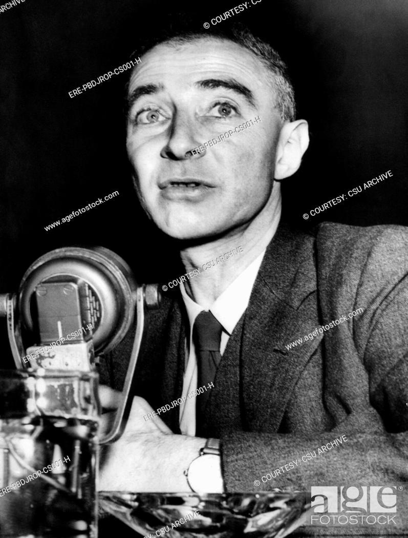 Dr J Robert Oppenheimer Former Head Of The Los Alamos