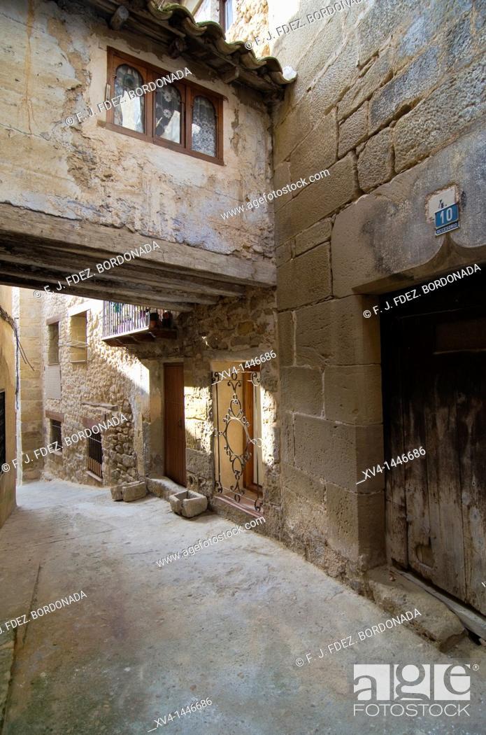 Stock Photo: Valderrobres  Mataraña, Teruel  Aragón, Spain.