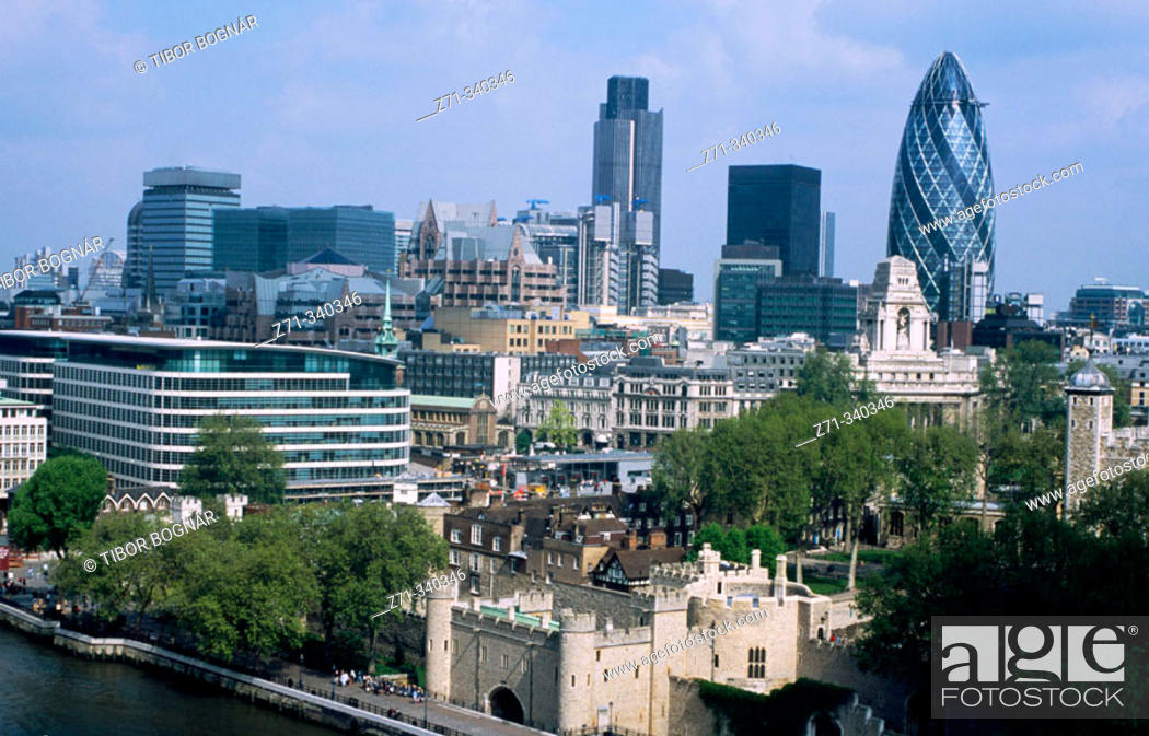 Stock Photo: City skyline. London. England. UK.