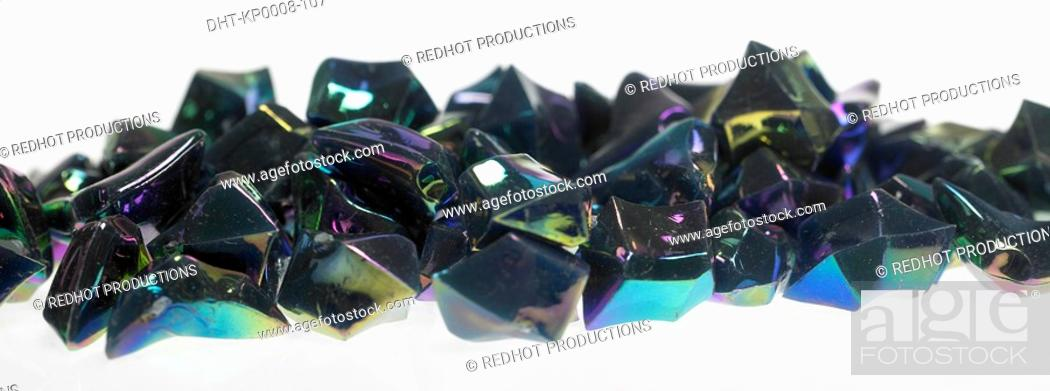 Stock Photo: Pile of Plastic Decorations close up.