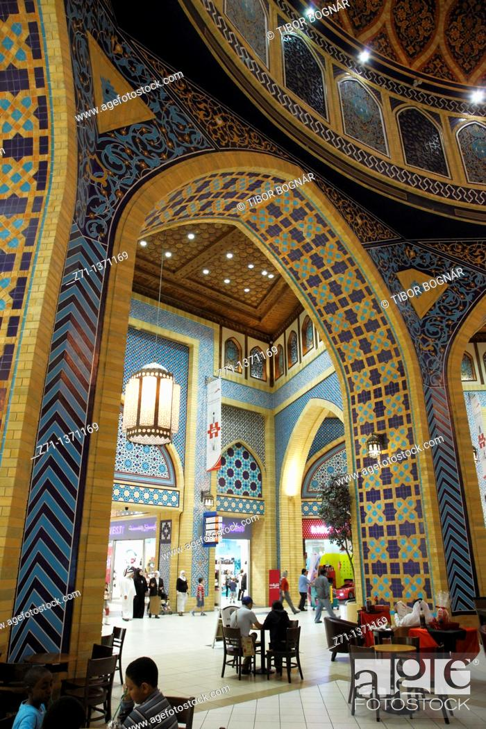 Stock Photo: United Arab Emirates, Dubai, Ibn Battuta Mall, Persian Court,.