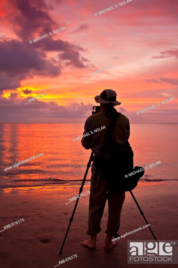 Stock Photo: Pre-dawn landing on Isla Magdalena on the Baja Peninsula, Baja California Sur, Mexico.