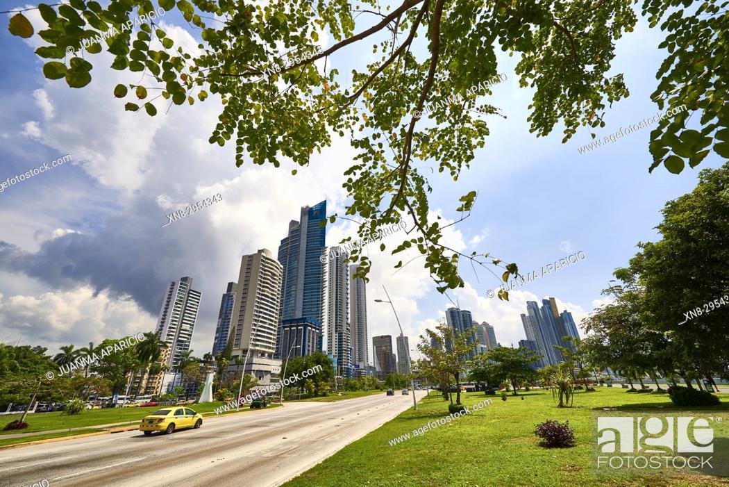 Stock Photo: Cinta Costera, Panama City, Republic of Panama, Central America, America.