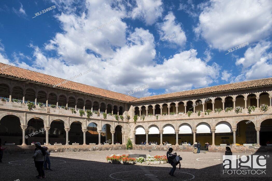 Imagen: Peru, Cusco, Qorikancha Sun Temple and Santo Domingo convent.